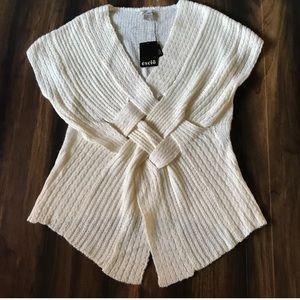 Escio Basket Weave Ivory Sweater Large New!!